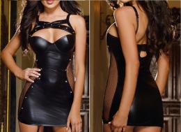 Платье под кожу  р. 40-54, модель 39
